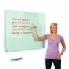WriteOn Glass Whiteboard 900x600mm Metroplan G6090/WH | Contemporary magnetic glass whiteboard | Fusion Office UK