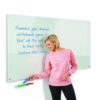 WriteOn Glass Whiteboard 1200x1200mm Metroplan G1212WH | Contemporary magnetic glass whiteboard | Fusion Office UK