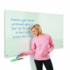 WriteOn Glass Whiteboard 1800x1200mm Metroplan G1218WH   Contemporary magnetic glass whiteboard   Fusion Office UK