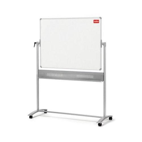 Nobo Classic Enamel Mobile Board 1200x900mm 1901033   Enamel magnetic whiteboard surface   25 year surface guarantee   Fusion Office UK