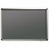 Nobo Internal Display Case A1 Grey Felt 31333500   Lockable Internal Glazed Case with grey pinboard   Aluminium trim   Fusion Office UK