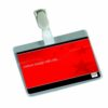 Visitors Badges with Clip Landscape Pack 25 | A drop-level front, for easy insertion & removal of inserts | Fusion Office