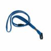 Durable Textile Lanyard 10mm Blue 811907 [Pack 10]   Ideal for trade fairs, conventions, VIP of large scale events   Fusion Office UK