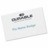 Durable Name Badges with Pin 75x40mm 800819 [Pack 100]   For conferences and exhibitions, or for visitors to your offices   Fusion Office UK