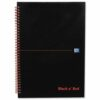 BlackNRed Glossy A6 Ruled Wirebound Notebook 100080448 [Pack 5]   Wirebound hardback notebook for durability   Fusion Office UK