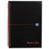 BlackNRed Matt A5+ Ruled Wirebound Notebook 100080192 [Pack 5]   Wirebound hardback notebook for durability   Fusion Office UK