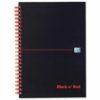 BlackNRed Matt A4+ Ruled Wirebound Notebook 100080218 [Pack 5] | Wirebound hardback notebook for durability | Fusion Office UK