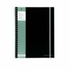 Pukka Pad Poly Wirebound Book A4 SBJPOLYA4 [Pack 3] | Features durable, black polypropylene covers & elasticated closure | Fusion Office UK
