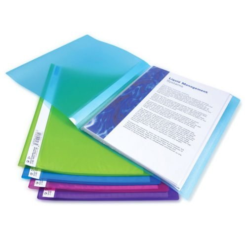 Rapesco Flexi 20 Pocket Display Books Assorted 0916 [Pack 10] | Contains 20 internal clear pockets for displaying 40 pages | Fusion Office UK
