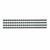 Binding Combs 8mm Black A4 Pack 100 | Capacity: 8mm (45 sheets) | Suitable for all comb binding machines | Fusion Office