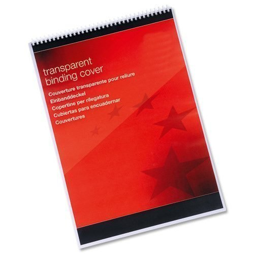 Clear Binding Covers A3 PVC [Pack 100]   Provides a stylish quality to your title pages   190 Microns   Fusion Office