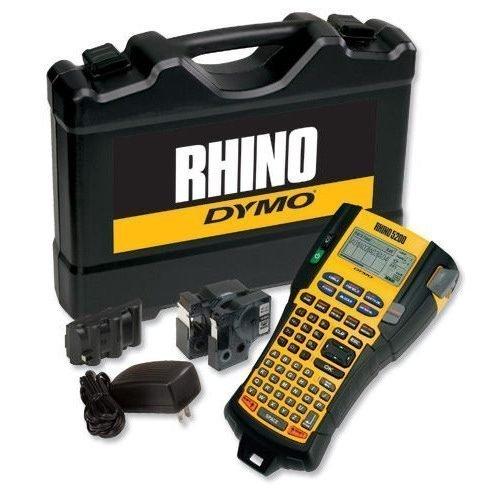 DYMO Rhino 5200 Labelmaker Kit S0841390 - Industrial label printer Kit | Meets all ANSI, TIA/EIA-606-B standards | Fusion Office