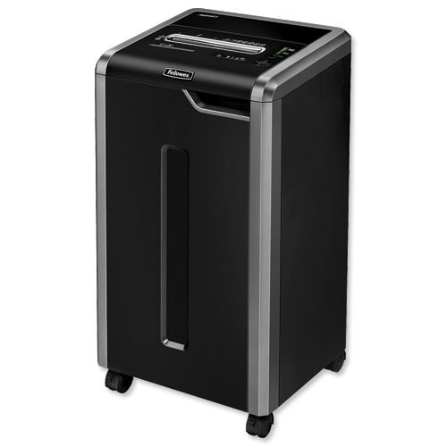 Fellowes Powershred 325Ci Cross-Cut P-4 Shredder 4632001   Shreds 22-24 sheets into 4 x 38mm particles (Security Level P-4)   Fusion Office