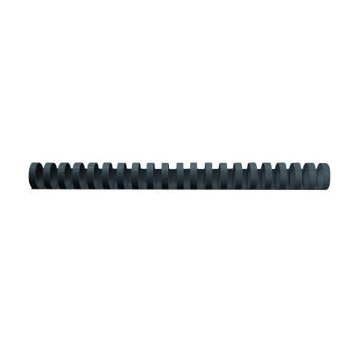 GBC Binding Combs 22mm Black A4 21 Ring 4028602 [Pack 100]   Durable high quality PVC that won't chip, scratch & discolour   Fusion Office UK