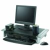 Fellowes Office Suites Premium Monitor Riser 8031001 | Adjustable feet provide five height positions 100mm-150mm | Fusion Office