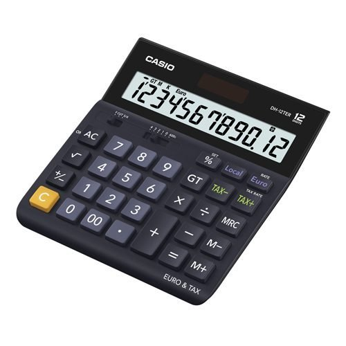 Casio Desk Calculator DH-12TER 12 Digits   ideal for your office or home and the angled display permits easy viewing   Fusion Office UK