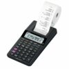 Casio Printing Calculator HR-8RCE-BK 12 digit | Ideal for the office or home | Powered by battery, to print anywhere! | Fusion Office UK
