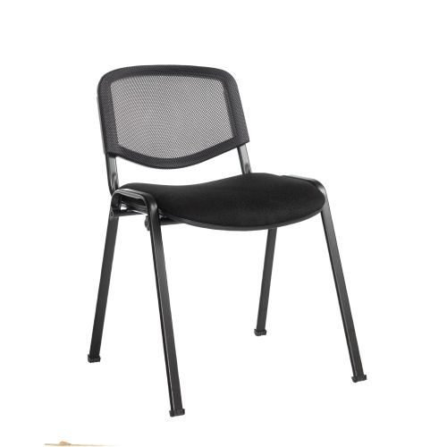 Taurus mesh back meeting room stackable chair Black DAMS TAUMK   Conference Chair   Fusion Office