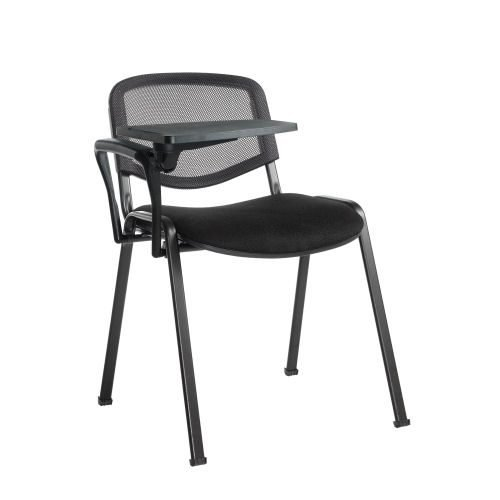 Taurus mesh back meeting room stackable tablet chair Black DAMS TAUMKW | Conference Chair | Fusion Office