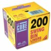 Le Cube Swing Bin Liners 40 Litres Pack 200 | 40 litres capacity bin liners | 44 gauge | handy dispenser box | Fusion Office