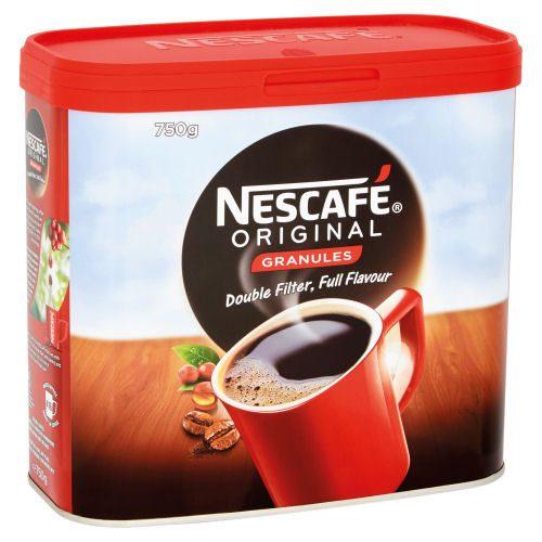 Nescafe Original Coffee Granules 750g   The signature coffee from Nescafe combines medium-roast Arabica & Robusta beans   Fusion Office UK