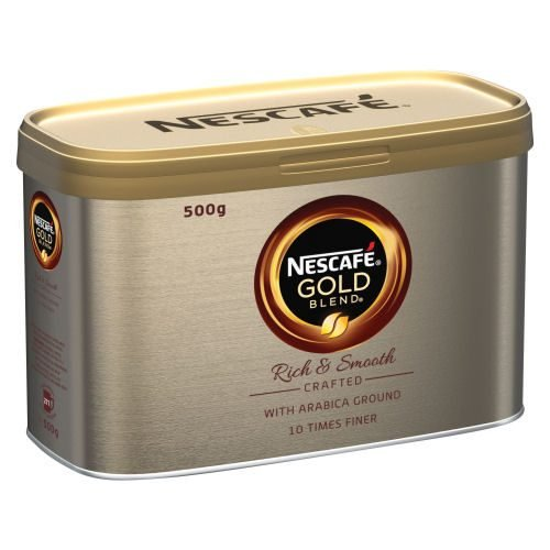 Nescafe Gold Blend Coffee 500g | The signature smooth rich instant coffee | Well-rounded taste and rich aroma in every cup | Fusion Office UK