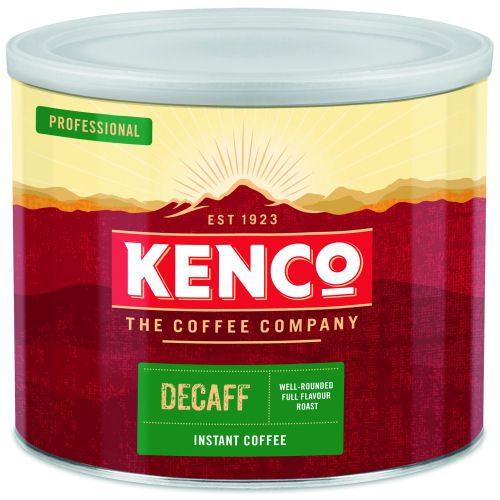 Kenco Decaffeinated Instant Coffee Tin 500g   Really Smooth Decaffeinated   The taste of real coffee in an instant   Fusion Office