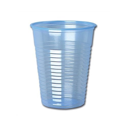 Water Cups Plastic 7oz 200ml Blue [Pack 1000] | Disposable after use | Ideal for use alongside water coolers | Fusion Office UK