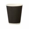 Triple Wall Ripple Cup Black 25cl/8oz [Pack 500] | Fusion Office