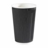 Triple Wall Ripple Cup Black 35cl/12oz [Pack 500]   Fusion Office