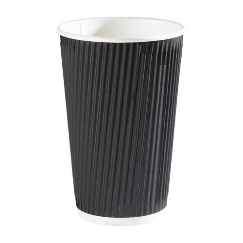 Triple Wall Ripple Cup Black 35cl/12oz [Pack 500] | Fusion Office