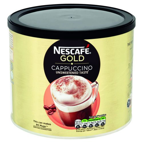 Nescafe Gold Cappuccino Coffee 1kg | Enjoy an expertly prepared cappuccino which is made from a blend of roasted beans | Fusion Office UK
