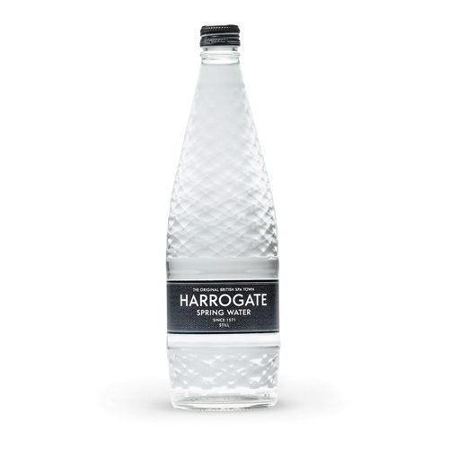 Harrogate Still Water Glass 750ml [Pack 12] | Virtually absent of nitrates and nitrites | Ideal for the workplace | Fusion Office UK