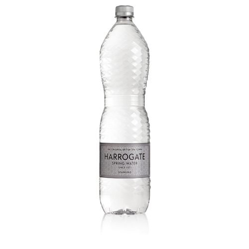 Harrogate Sparkling Water 1.5 litres [Pack 12]   Virtually absent of nitrates and nitrites   Ideal for the workplace   Fusion Office UK