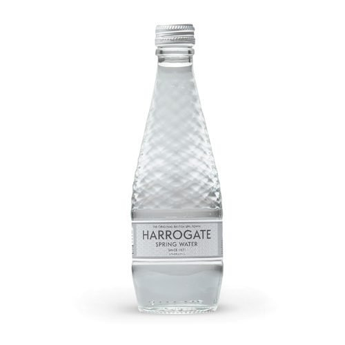 Harrogate Sparkling Water Glass 330ml [Pack 24] | Virtually absent of nitrates and nitrites | Ideal for the workplace | Fusion Office UK