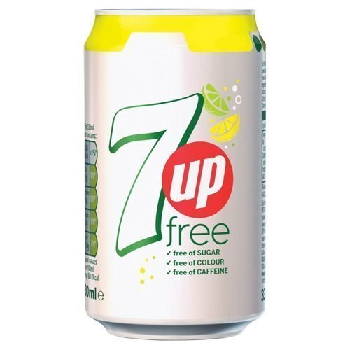 7UP Free Lemon & Lime Can 330ml [Pack 24] | A sugar free, low calorie sparkling lemon & lime flavoured soft drink | Fusion Office UK