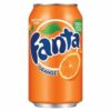 Fanta Orange Can 330ml [Pack 24] | Sparkling orange soft drink with sugar & sweeteners | No artificial colours or flavours | Fusion Office UK