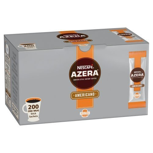 Nescafe Azera Americano Sachets [Pack 200]   Rich flavour and enticing aroma   Quick and convenient one serving sachets   Fusion Office UK