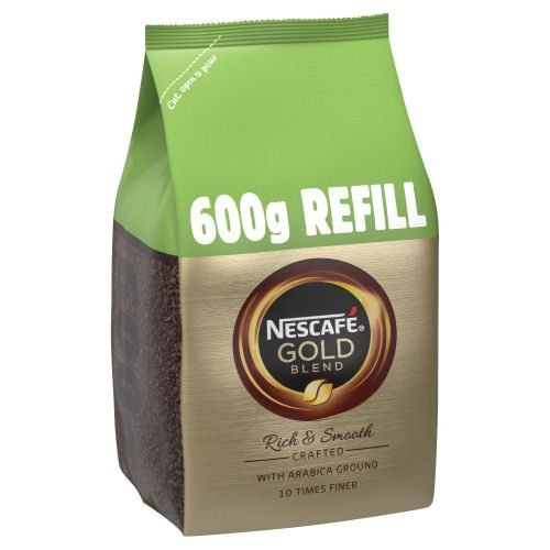 Nescafe Gold Blend Coffee Refill 600g   The signature smooth rich instant coffee   Well-rounded taste and rich aroma   Fusion Office UK