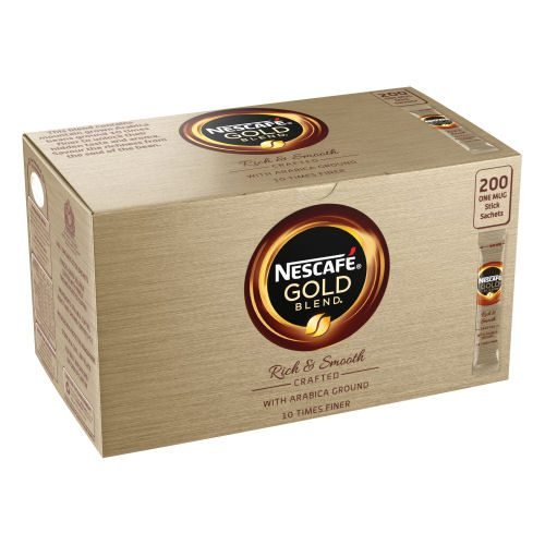 Nescafe Gold Blend Coffee Sachets [Pack 200]   Savour the smooth, well-rounded taste of the recipe   Handy Sachets  Fusion Office UK