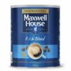 Maxwell House Rich Blend Coffee Granules 750g   Made with 100% natural coffee beans without any additives   Fusion Office UK