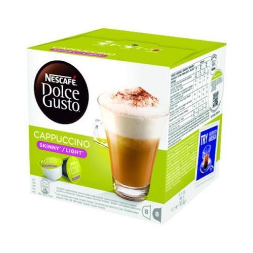 Nescafe Dolce Gusto Skinny Cappuccino [Pack 48]   Enjoy its smooth, milky texture & great-tasting coffee time & time again   Fusion Office UK