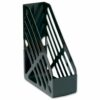 Magazine Rack File Black | Accepts two-ring binders | Extra large capacity for optimum storage | Fusion Office