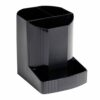 Exacompta Forever Pen Pot Black 100% Recycled 675014D   4 compartments   Made from orange juice bottles   Fusion Office UK