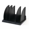 Avery DR300BLK DTR Eco Book Rack Black | Sturdy bookrack with angled base to ensure books & files stay securely in place | Fusion Office UK