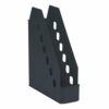 Avery 1135BLK Basics Magazine Rack Black   Storage solution for magazine, catalogues and brochures   Low front design   Fusion Office UK