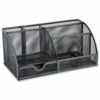 Mesh Desk Tidy Black | Corrosion and scratch-resistant metal | Modern and stylish mesh desk organiser | Fusion Office