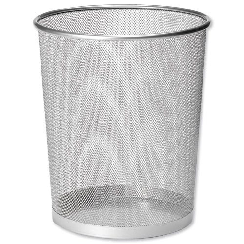 Waste Bin Mesh Silver | Corrosion and scratch-resistant metal | Lightweight yet sturdy construction | Fusion Office