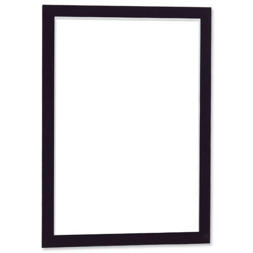 Durable Duraframe A3 Black Self-Adhesive 487301 [Pack 2] | When applied to glass, information can be read from both sides | Fusion Office UK