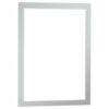 Durable Duraframe A3 Silver Self-Adhesive 487323 [Pack 2] | When applied to glass, information can be read from both sides | Fusion Office UK